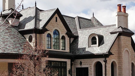 The beauty of genuine slate roofing without the extra weight